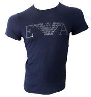 T-shirt maglia girocollo Emporio Armani 100% cotone cotton S Uomo man Logo front