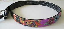 Men's Designer Studded Belt (New M) Mermaid & Roses Stud, Genuine Italian Design