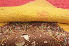 Antique French Provencal quilt Fenetre composition textile c1830 Ramoneur