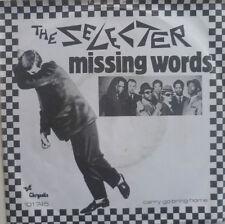 "7"" 1980 SKA RARE ! THE SELECTER : Missing Words /VG++"