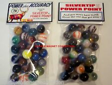 2 BAGS OF WINCHESTER SILVERTIP OR POWER POINT AMMO ADVERTISING PROMO MARBLES