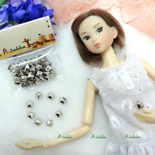 Doll Bjd 1/6 Dollfie Dress Making DIY Crafts Metal Mini Square Rivet 5mm Silver