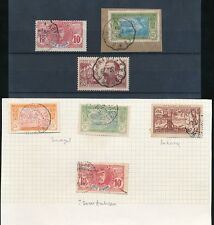 French Ivory Coast Railway Tpo Cancels 7 stamps Fine Used