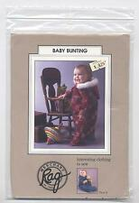 Fleece Sleep Sack Baby Bunting Snowsuit Quilt Rag Merchant Size 0-24 Pattern New