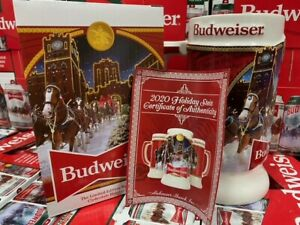 2020 Budweiser Holiday stein mug annual Christmas series New in Box!!!