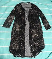 H&M Long Jersey cardigan schwarz hellbeige Gr.S weich Blogger