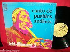 INTI-ILLIMANI 3 Canto de pueblos Andinos LP 1975 ITALY EX+ first pressing