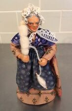 """Marius Chave Aubagne Vintage Terra-cotta Clay French Peasant Doll 6.25"""""""