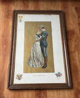 "1899 The Infantry Antique American War Print Original 19.5"" x 29.5"""