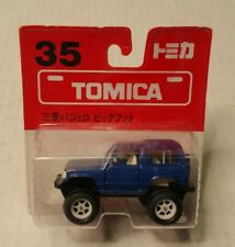 Tomy Tomica Mitsubishi Pajero Bigfoot #35 Blue Rare Blister Japan