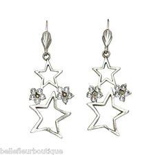 Anne Koplik Star Cluster Leverback Earrings Swarovski Crystals *Made in USA*
