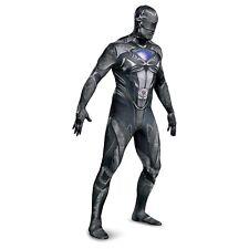 New NWT Mens adult XXL Power Rangers black blue or red Ranger full body Costume