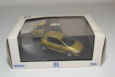 A2 1:43 NOREV PEUGEOT 307 METALLIC YELLOW MINT BOXED