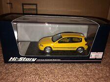 Hi-story 1/43 Honda Civic Yellow Resin EG SiR