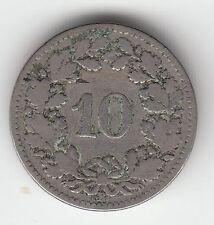 MONNAIE 10 RAPPEN SUISSE   EN ARGENT  1882   SYLVER COIN