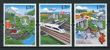 China 2017 MNH Development of Provinces 3v Set Trains Aviation Mountains Stamps