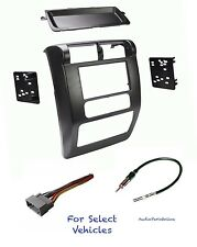 Double Din Car Stereo Radio Dash Kit Combo for 2003 2004 2005 2006 Jeep Wrangler