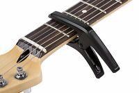 Genuine Fender PHOENIX Acoustic or Electric 6-String Spring Guitar Capo - BLACK