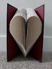 Heart Love Valentine Folded Book Art Sculpture OOAK Handmade Gift