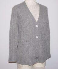 Hayden 100% Cashmere Gray Cardigan Sweater S