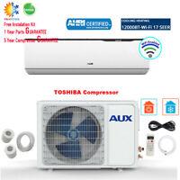 AUX 12000BTU Ductless Air Conditioner Mini Split Heat Pump JSmart WiFi 115V 1Ton