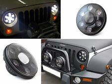 "CREE LED 7"" round headlight H/L 48/24W Wrangler JK LJ TJ Hummer G-wagen Defender"