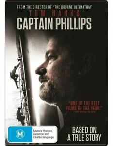 CAPTAIN PHILLIPS DVD TOM HANKS REGION 4 NEW AND SEALED