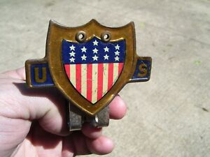Original 1920 's- 1930s Vintage ww2 auto Bumper flag bracket Ford gm chevy olds