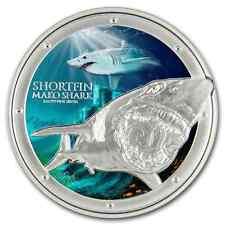 2016 Niue Ocean Predators - Mako Shark 1 OZ Silver Coin NZ Mint Cool Gift!