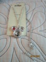 NEW Disney World Mickey Necklace w Charms Ages 12 + Silver Tone & Multi Colors