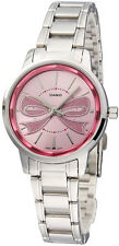 Casio LTP-1313D-4A Womens Pink Ribbon Watch Fashion Stainless Steel Dress New