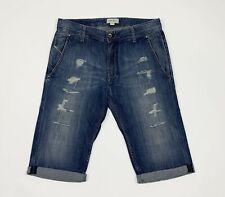 Diesel preela shorts jeans uomo usato destroyed W30 tg 44 denim boyfriend T5335