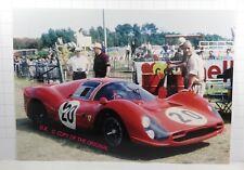 PHOTO cm13x18 24h LE MANS 1966 FERRARI 330 P3 #20 M.Parkes- L.Scarfiotti PESAGE