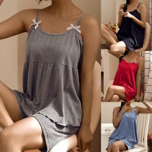 Ladies Shorty Pyjamas Pjs Short Sleeve Set Nightwear Pjs Loungewear Sleepwear