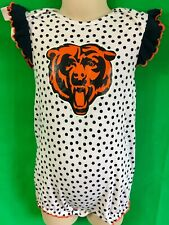 B76 NFL Chicago Bears Girls' Baby-Grow Play Outfit ADORABLE! 24m