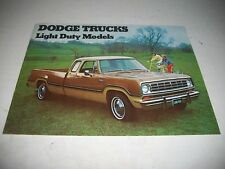 1973 DODGE LIGHT DUTY TRUCKS SALES BROCHURE PICKUPS CREW CABS 4 WHEEL DR
