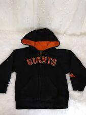 adidas Little Boy's Size 2T San Francisco Giants Zip Front Hooded Jacket GUC