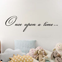 Once Upon A Time Quote Vinyl Wall Decal Lettering Decor Kids Room Art Sticker