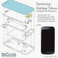 SAMSUNG GALAXY S4 mini DEFEKT? REPARATUR LCD DISPLAY + TOUCHSCREEN SCHWARZ i9195