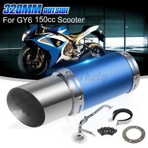 Stainless Performance Exhaust System Muffler Short For GY6 125cc 150cc Scooter