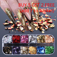 Nail Art Foil Leaf Gold Silver Chunky Glitter Body Beautify Cosmetics - Hot Sale