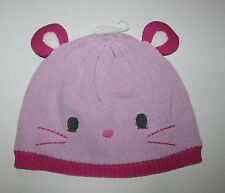 New Gymboree Girls Pink Mouse Knit Cap 4T 5T NWT  Woodland Wonder 3D ears