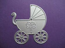 NEW Baby Pram Metal Craft Card Making Cutting Die