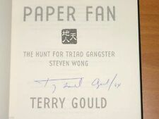 PAPER FAN Triad Gangster Steven Wong SIGNED Terry Gould