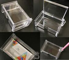 4 X ACRYLIC DESK BUSINESS NAME VISITING CARD HOLDERS WITH TOP LED COVER HOLDERR