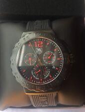 TAG HEUER Formula 1 Chronograph Black Dial Black Rubber Men's Watch CAU111A.