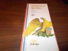 1976 McDonald's Promotional Map Region 13 IL/IA/KS/MO/NE Heritage Roads Series