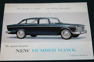 Humber Hawk Original Large Colour Sales Folder Circa 1960