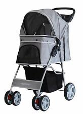 Pet Stroller Dog Cat Walk Travel Holiday Vets Transport Lightweight Grey