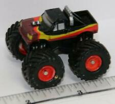 MICRO MACHINES TUFF TRAX VEHICLES COLLECTION MONSTER TRUCK BLACK RED AND YELLOW